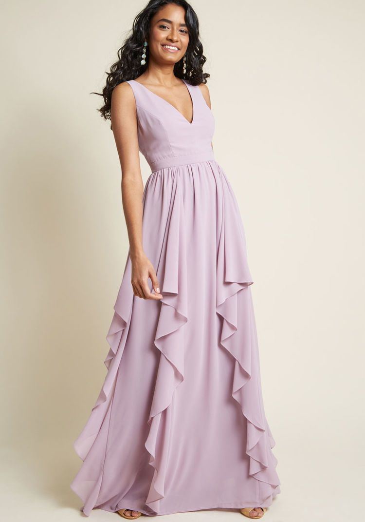 cbd5202bf290 As Ruffles Ripple Maxi Dress in Lavender in 2019 | Clothes ...