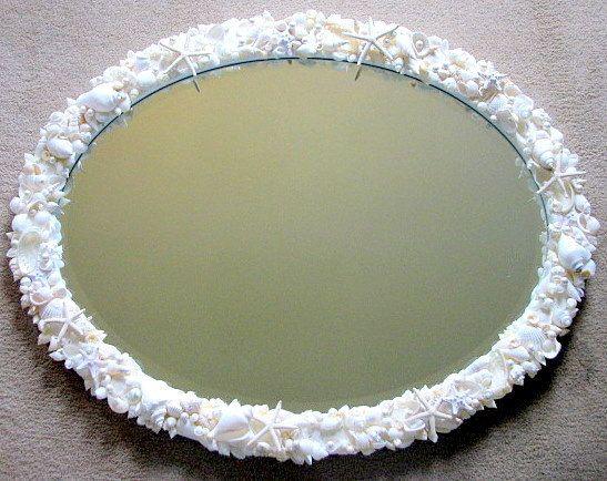 Seashell Mirror for Beach Decor  Shell by beachgrasscottage, $700.00