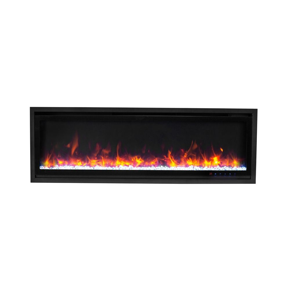 Paramount Kennedy Ii Commercial Grade Recessed And Surface Mounted Electric Fireplace 42 In 5000 B Modern Electric Fireplace Electric Fireplace Sleek Fireplace