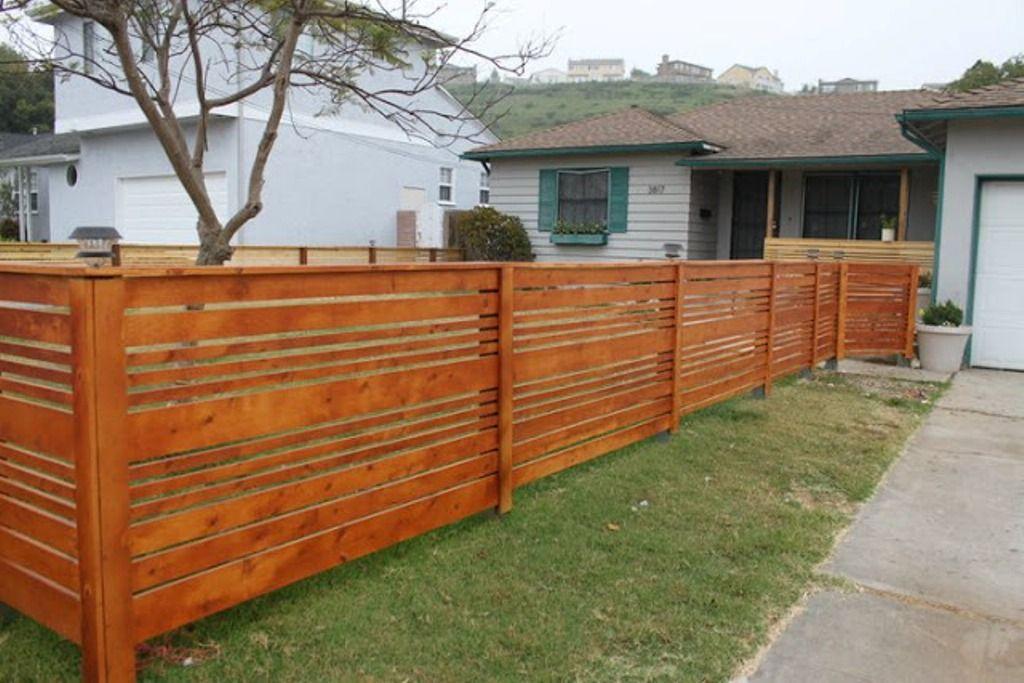 Modern horizontal fence ideas great modern horizontal for Modern front fence ideas
