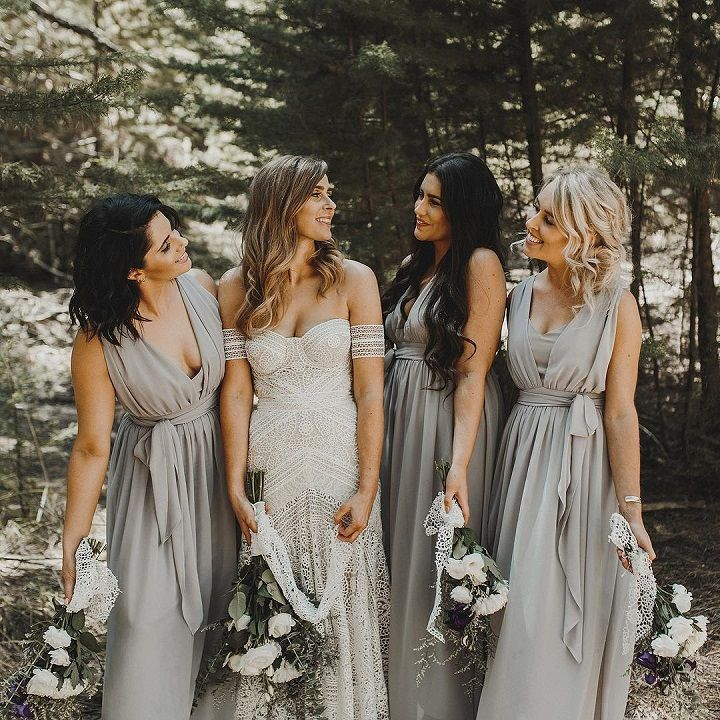 This Grey Bridesmaid Dresses Are Perfect For Boho Wedding Bridesmaid Dresses Boho Grey Bridesmaid Dresses Grey Bridesmaids