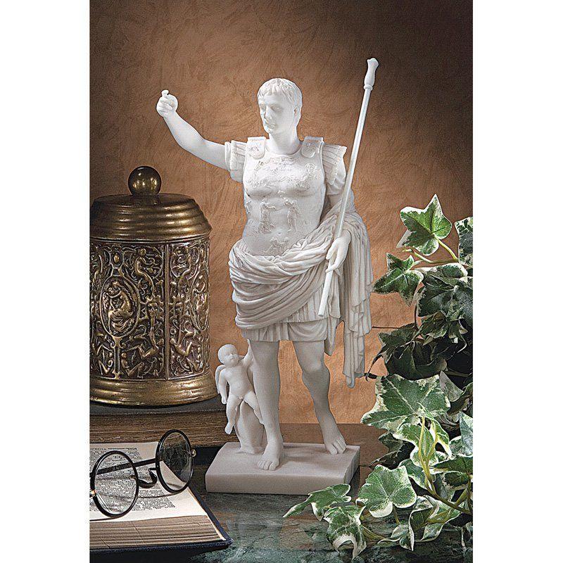 Design Toscano 11.5 in. Caesar Augustus of Prima Porta Statue - WU73509