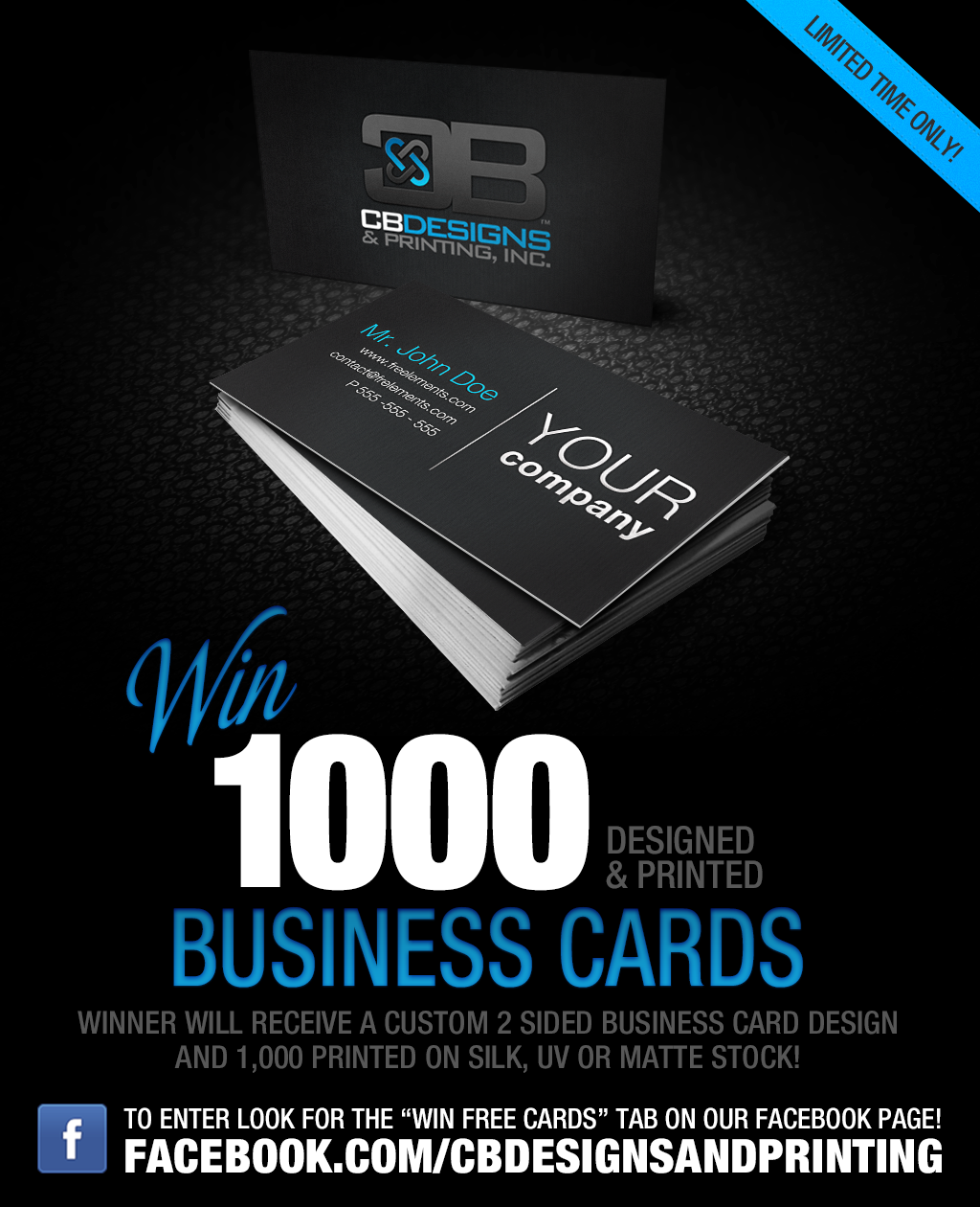 Alright the wait is over! Enter to win 1000 Business Cards, Designed ...