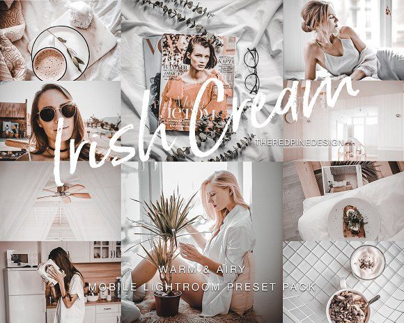Mobile lightroom preset full pack by the red pine photoshop