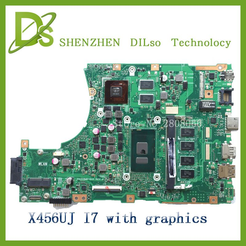 For Asus X456uj Laptop Motherboard X456uj Mainboard Rev2 2 With Graphics Card I7 Cpu Onboard Freeshipping 100 Tested Laptop Motherboard Motherboard Asus