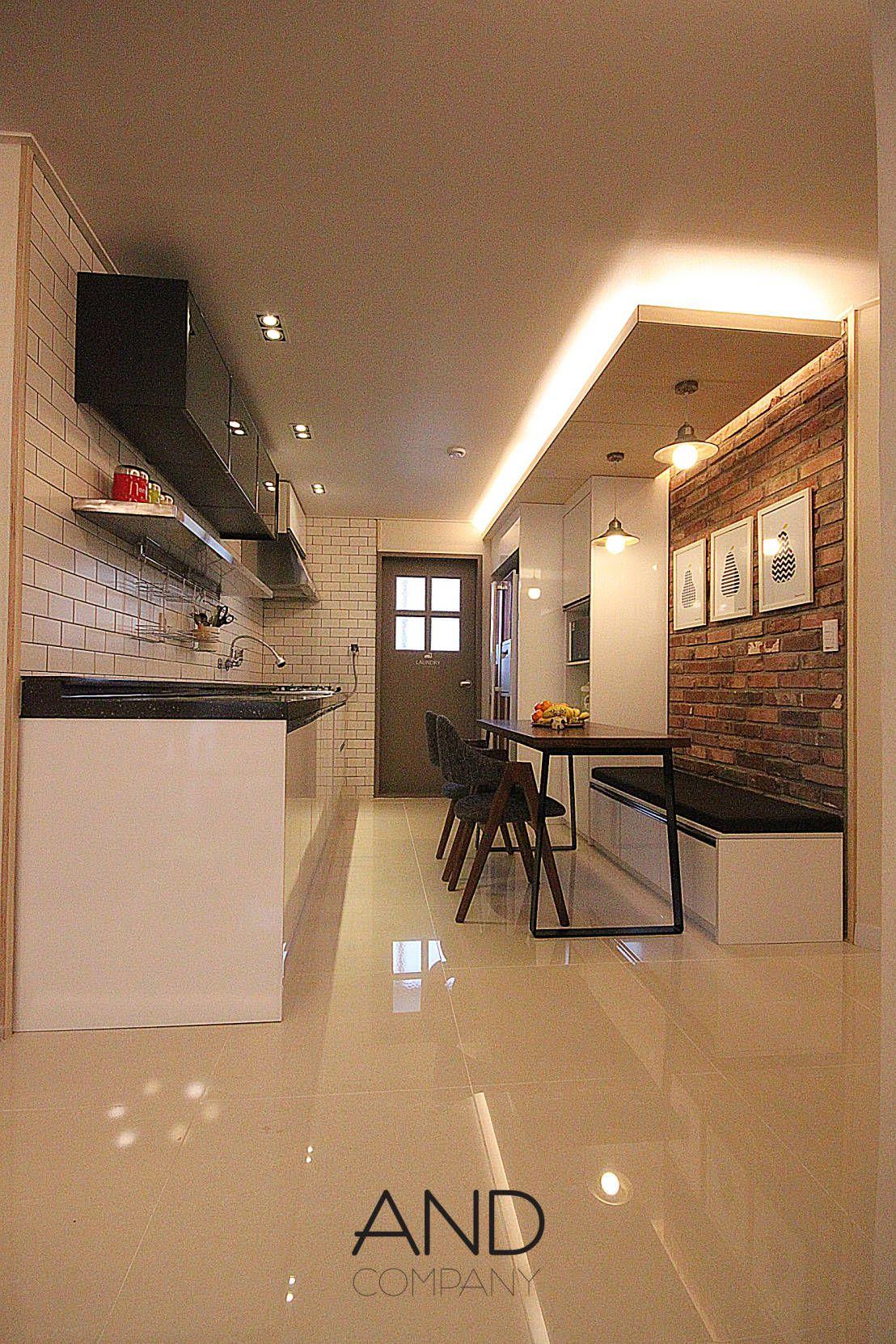 31평 아파트 리모델링: 공간 활용도를 높인 모던 인테리어  부엌 ...