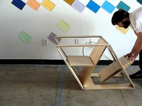 Inspired By The Clever Design Of Pop Up Books, The Folding Chair And Ottoman