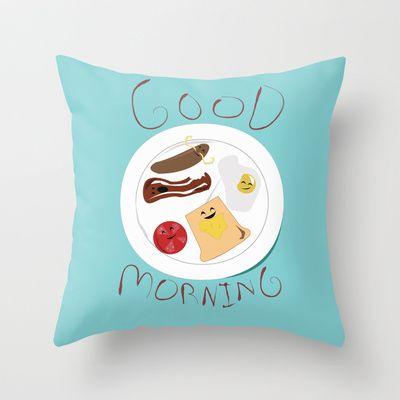 Good Morning  Throw Pillow by Elliot Swanson  - $20.00