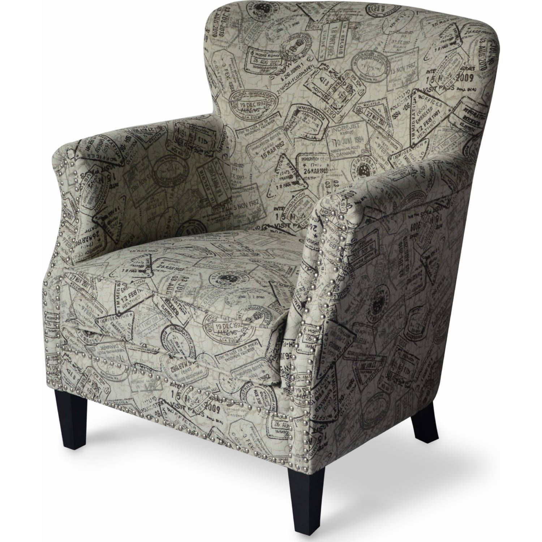 Jofran Globetrotter Ch Grt Globetrotter Accent Chair Granite