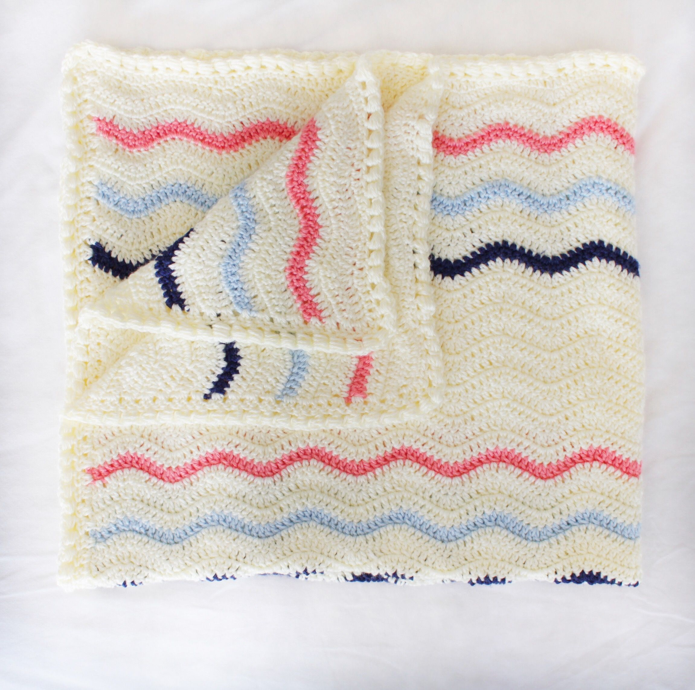 I love a double crochet ripple pattern. They work up so quickly and ...