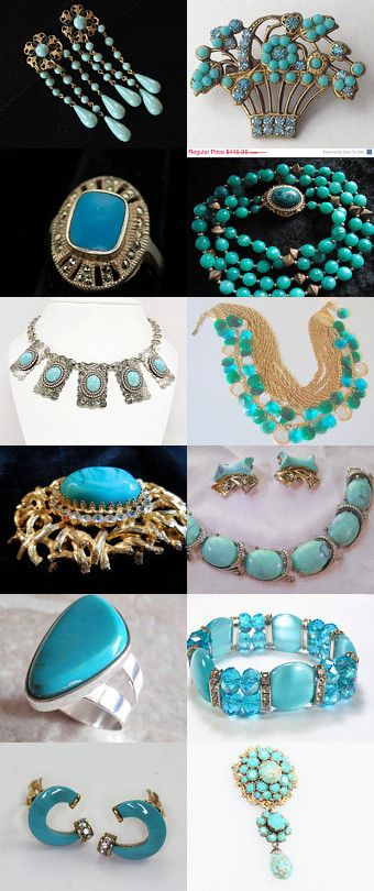 Turquoise Treasures by Amy Baker on Etsy--Pinned with TreasuryPin.com