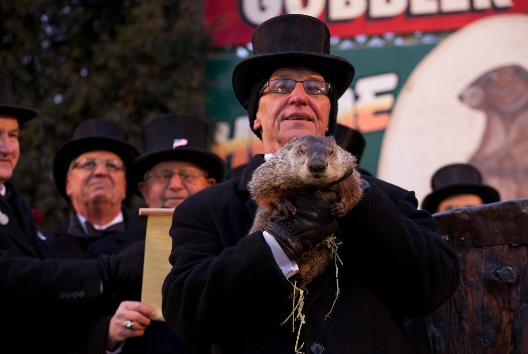 They've been holding the ceremony in Gobbler's Knob every year since 1887