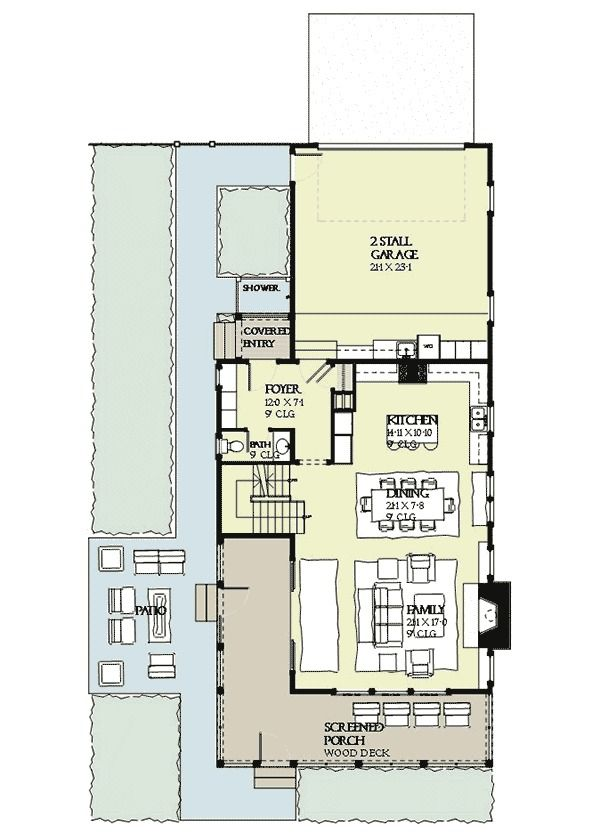 Plan 970002VC Decks Galore home floor plan Pinterest House
