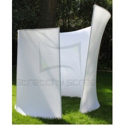 stretchyscreens spiral photo booth enclosure stage design