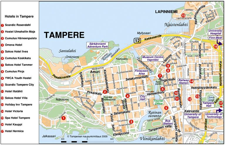 Helpful map Tampere Pinterest Finland
