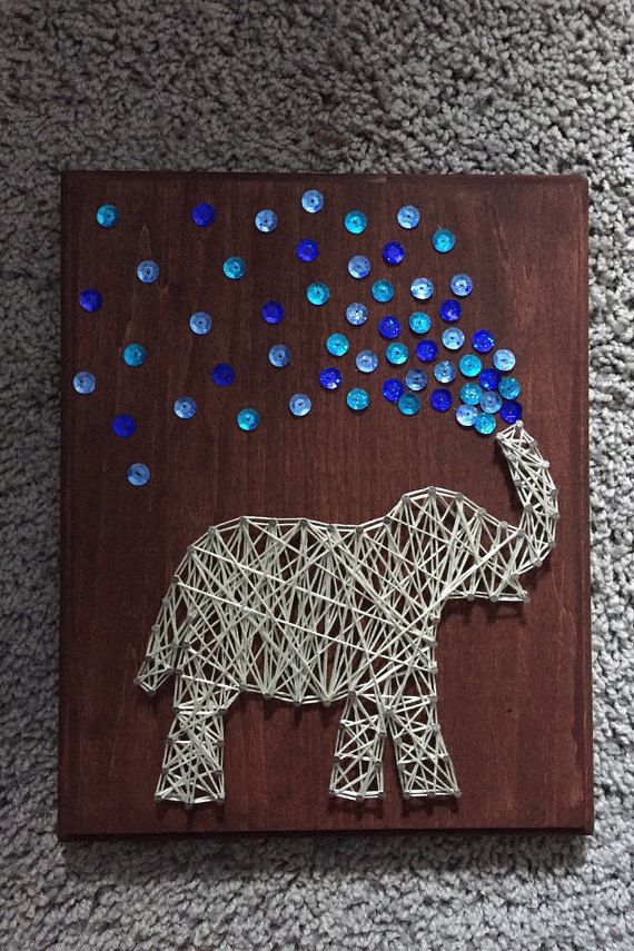 Elephant String Art by ComePaintAway on Etsy