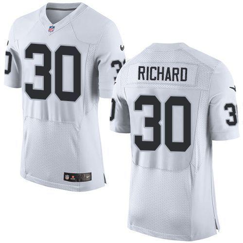 Men's Oakland Raiders #33 DeAndre Washington NEW White Road Stitched NFL Nike Elite Jersey