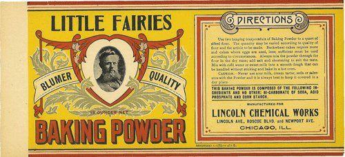 Vintage Little Faries Baking Powder Can Label Printable Printies