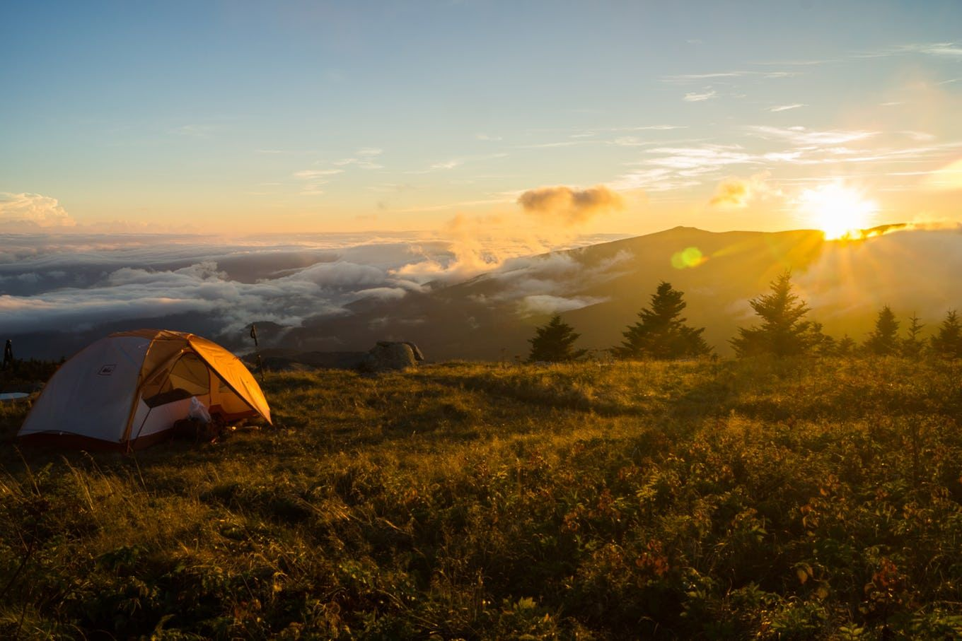 Hike to Grassy Ridge Bald in the Roan Highlands Camping