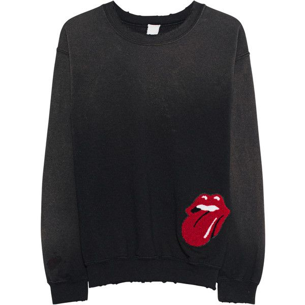 MadeWorn Rolling Stones Tour Of 81 Dirty Black // Cotton sweater ...