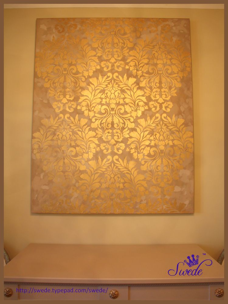 Large Stenciled Canvas Diy This Looks Incredible And She