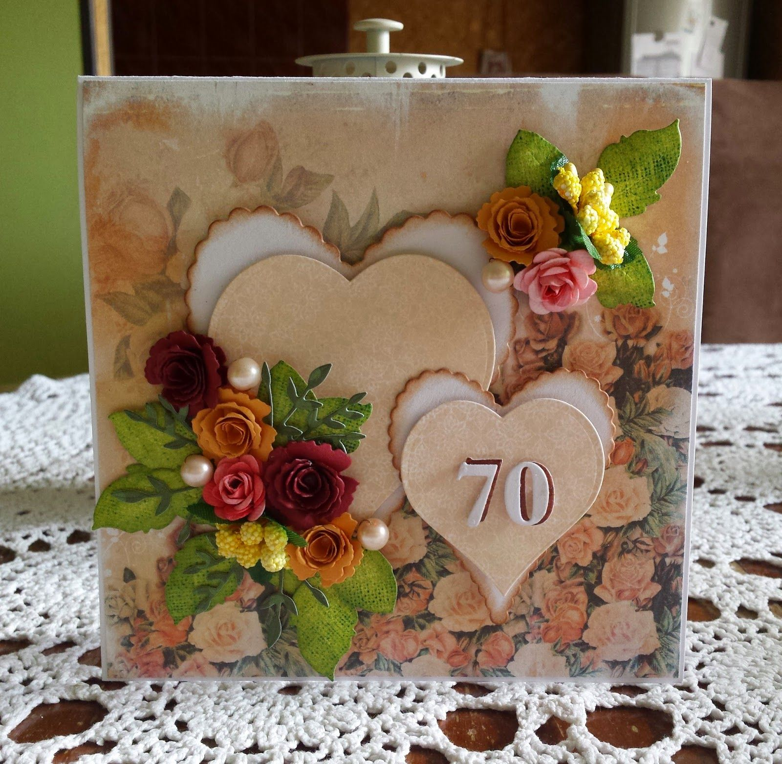 Urodziny 70 Lat With Images Urodziny Scrapbooking
