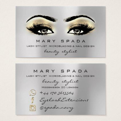 Makeup artist eyebrows lashes gold esthetician business card makeupartist businesscards makeup artist eyebrows lashes gold esthetician business card colourmoves