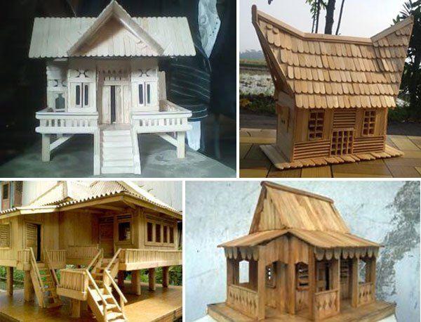 44 Gambar Cara Membuat Rumah Dari Stik Es Krim HD Terbaru