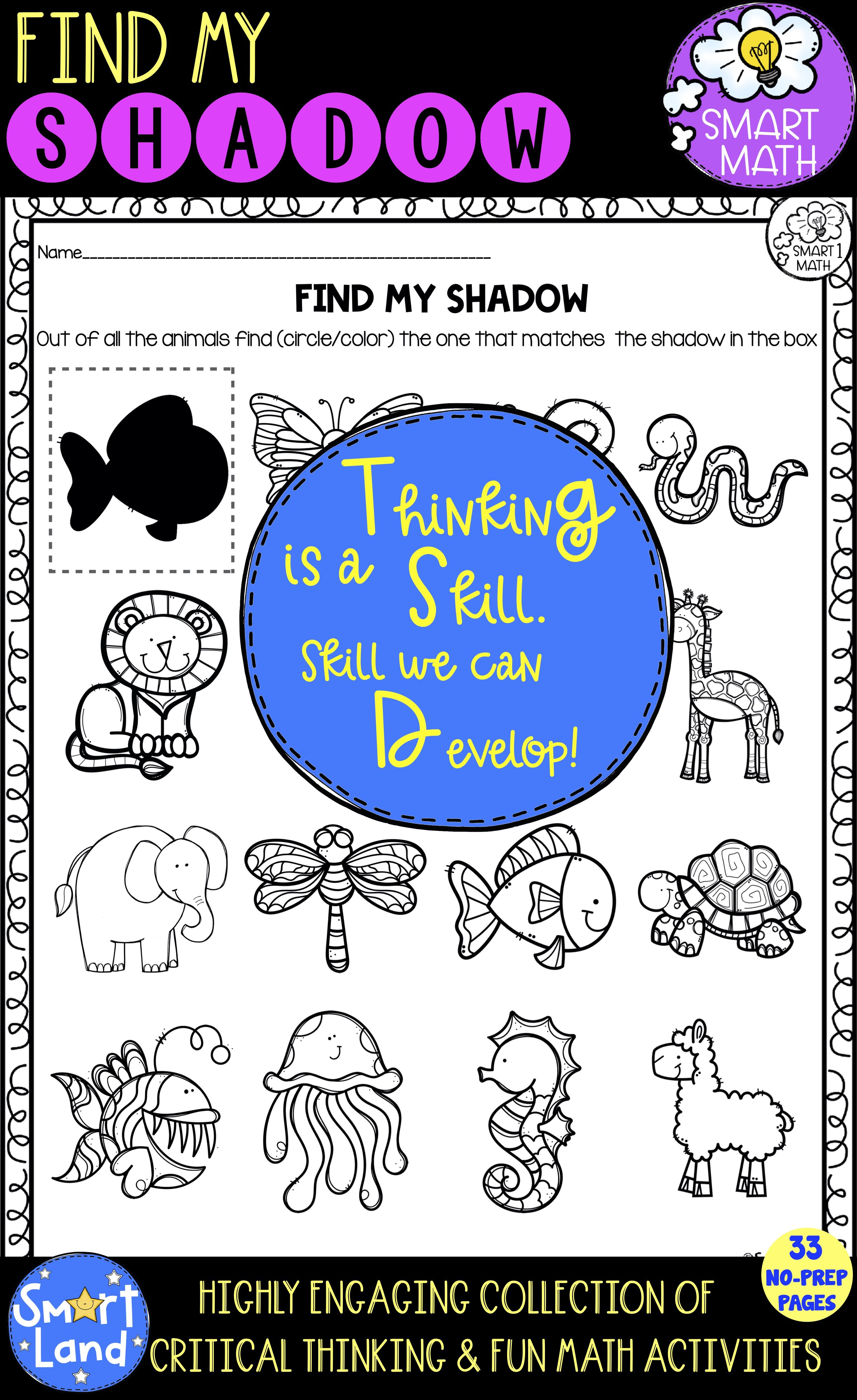 Shadow Puzzles Preschool Critical Thinking Worksheets