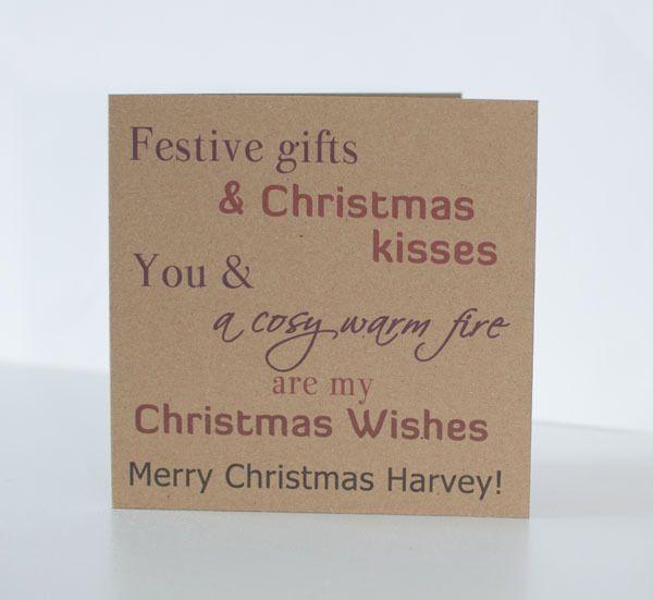 Personalised Christmas Card Wife Husband Girfriend