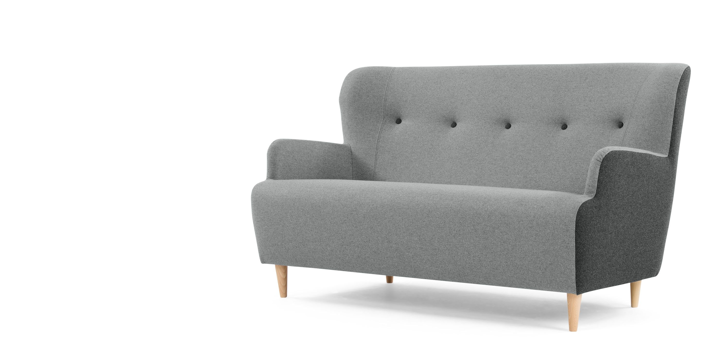 Divano A Tre Posti Dixie In Colore Grigio Made Com With Images 2 Seater Sofa
