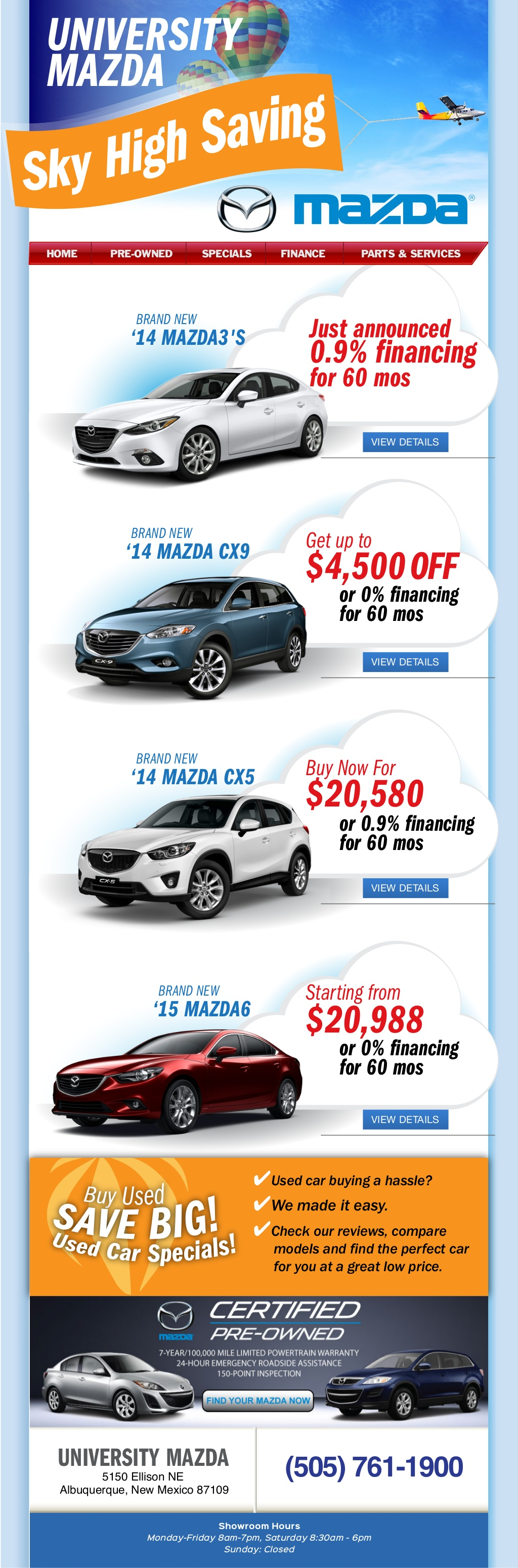 University Mazda Market Sky High Savings Dealership in Albuquerque