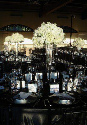 black silver red wedding ideas | The Bridges / very elegant Black ...
