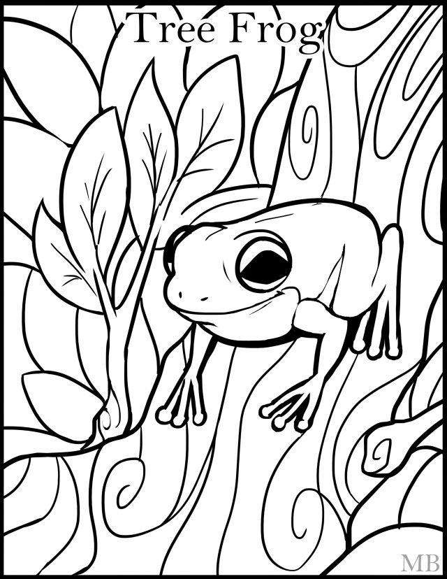 Tree frog coloring page clipart panda free clipart images