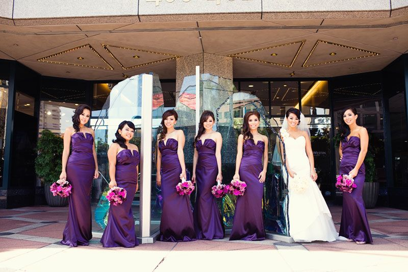 Purple Plum Bridal Bouquets Wedding Purple Wedding Guest Dresses