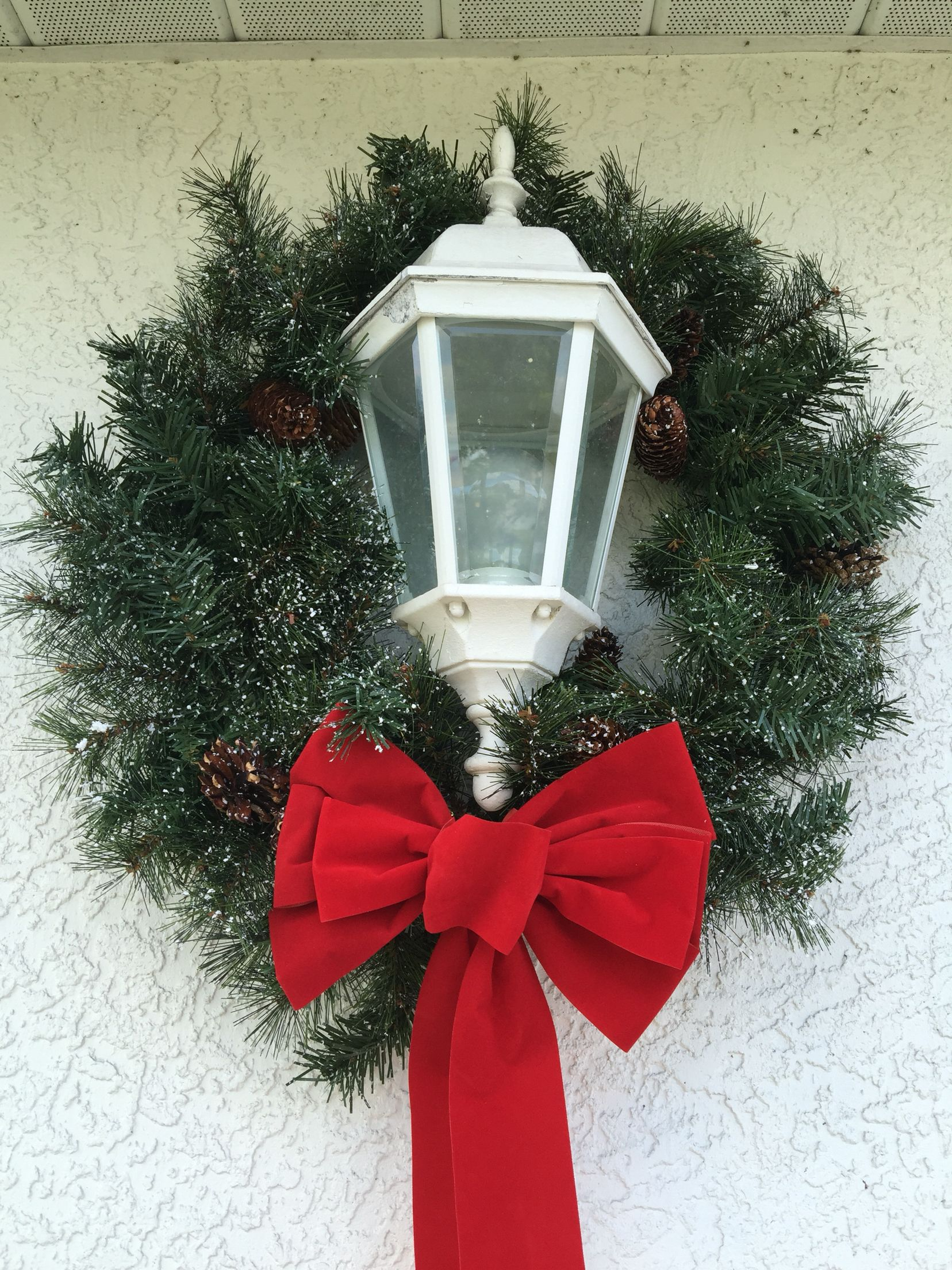 Christmas wreath with bow from Michaels. For the Outside ...