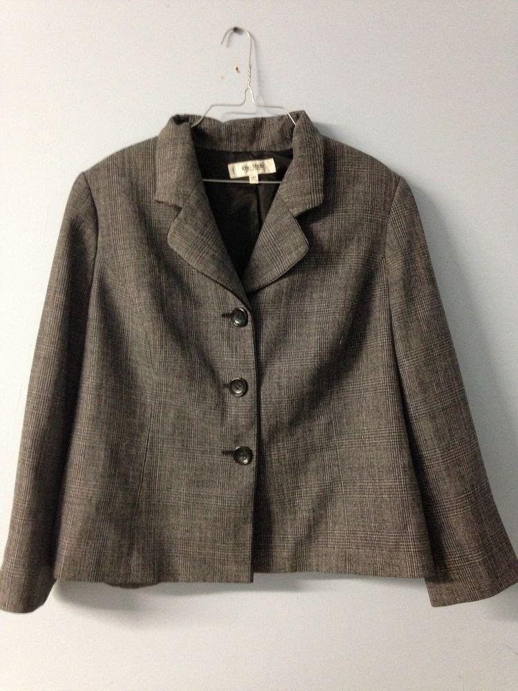 Gray Jones Studio Woman Separates Blazer Suit Jacket Plus Size 16 W | eBay
