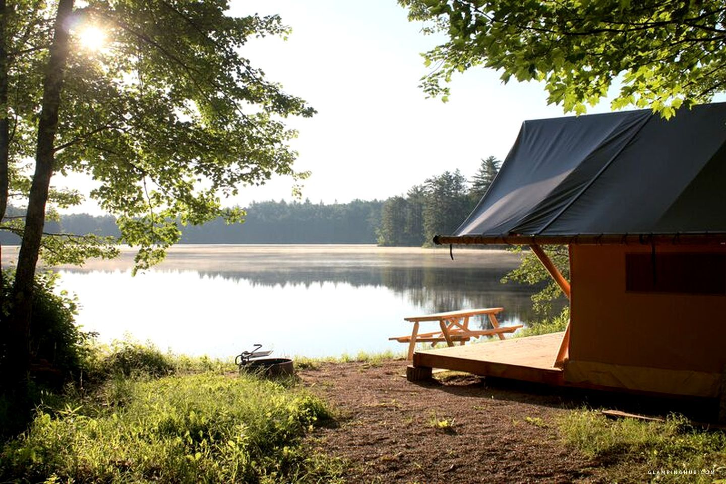 Luxury Tent for Camping in the White Mountains of Conway ...