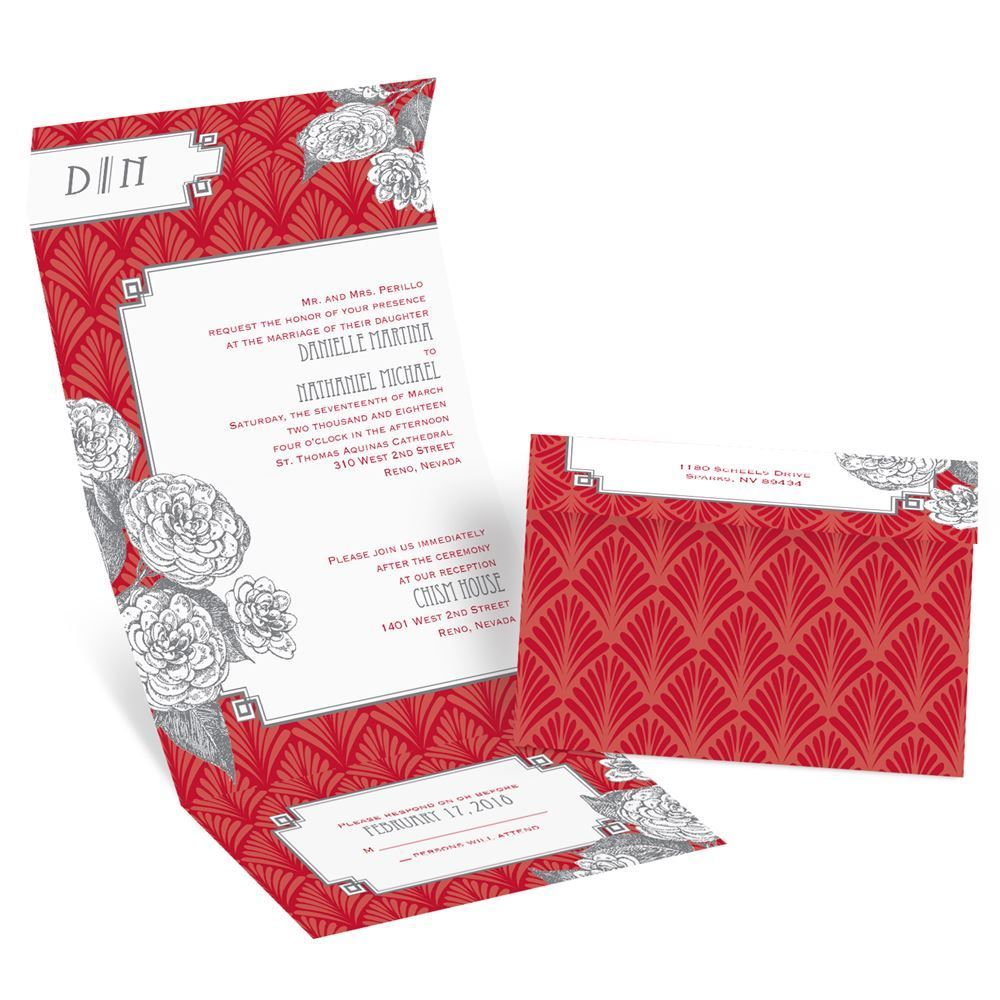 Forever Vintage - Seal and Send Invitation | Red vintage weddings ...