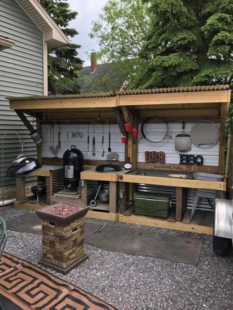 BBQ Station | Diy renovation, Gas and charcoal grill, Grill