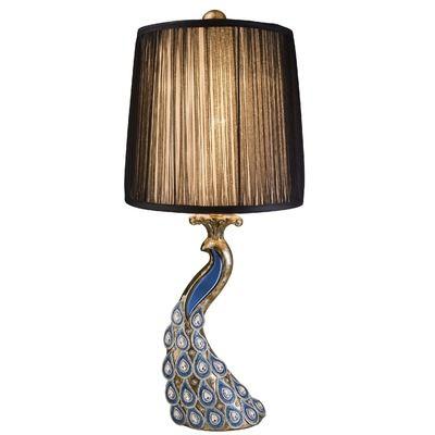 Peacock Lamp $219.99 www.allthingspeacock.com - Peacock Lamps