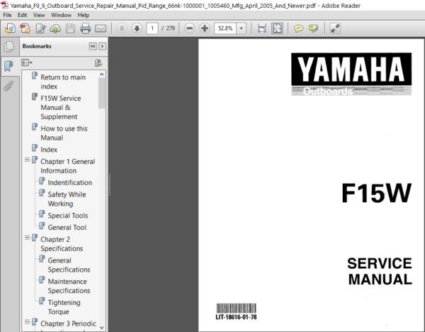 Yamaha F9 9 Outboard Service Repair Manual In 2020 Repair Manuals Outboard Manual