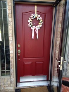 My New Red Door Yesterday I Decided To Try My Hand At Repainting My Front