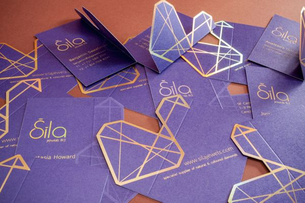 Business card design for Sila Jewels. by Monogum Creative , via Behance