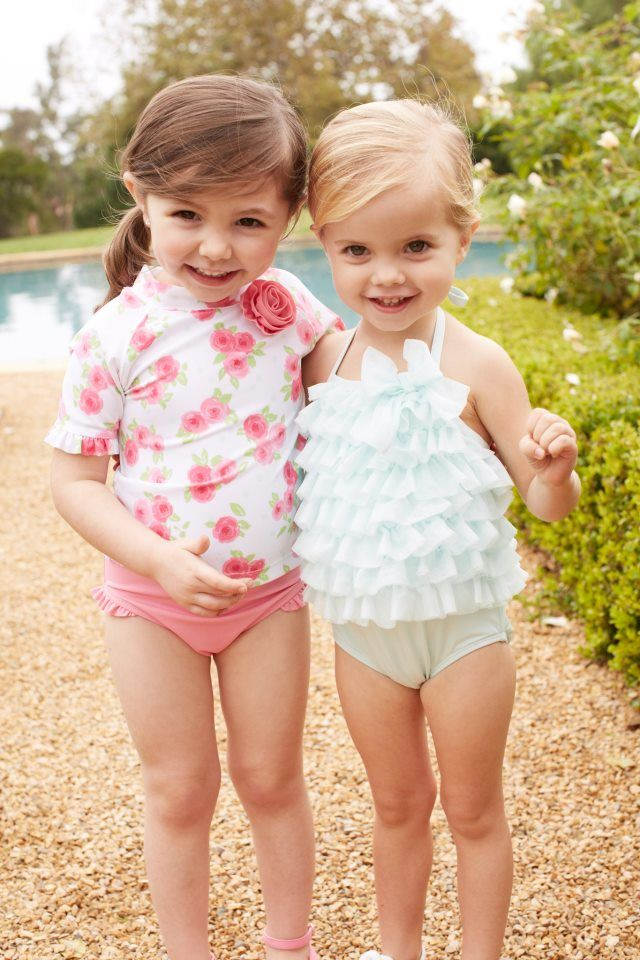 ced97bb84e Janie and jack tulle swimsuit on right, has matching swim cap and  sunglasses! I LOVE Janie and Jack! Almost all of our baby clothes are from  that store. ;)
