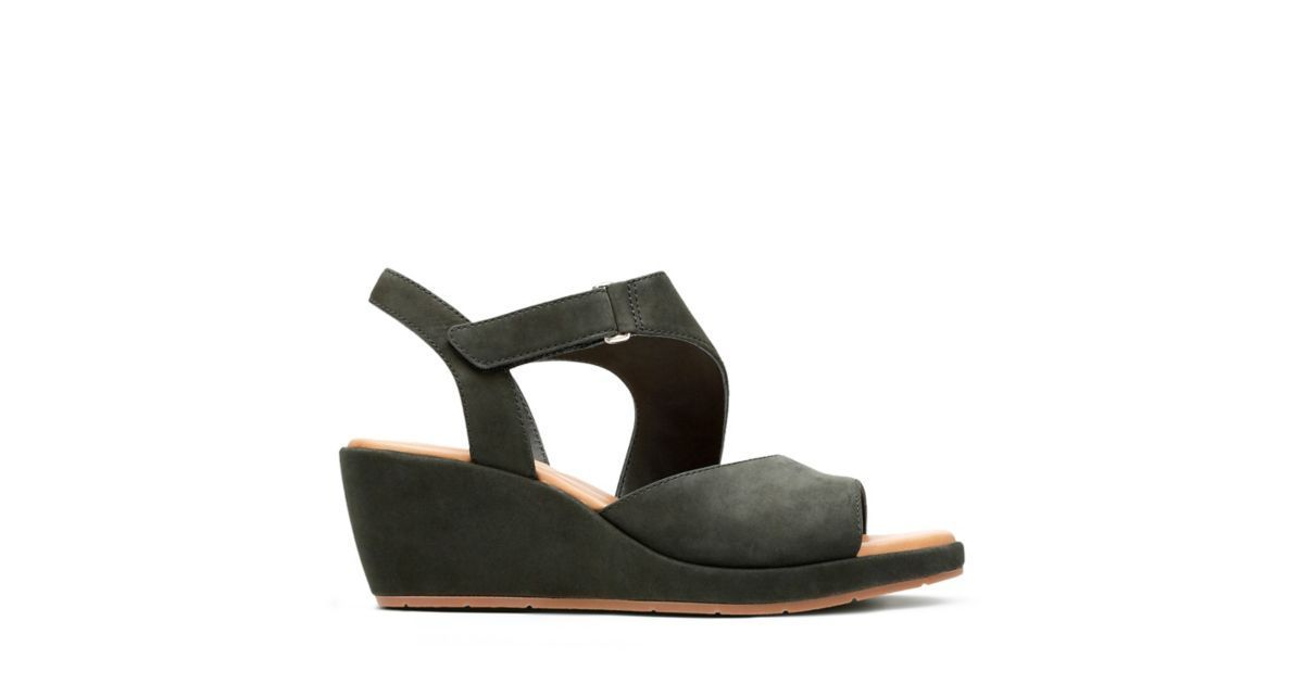0473ee77d3d1 Un Plaza Sling Black Nubuck - Women s Wide Width Shoes - Clarks® Shoes  Official Site