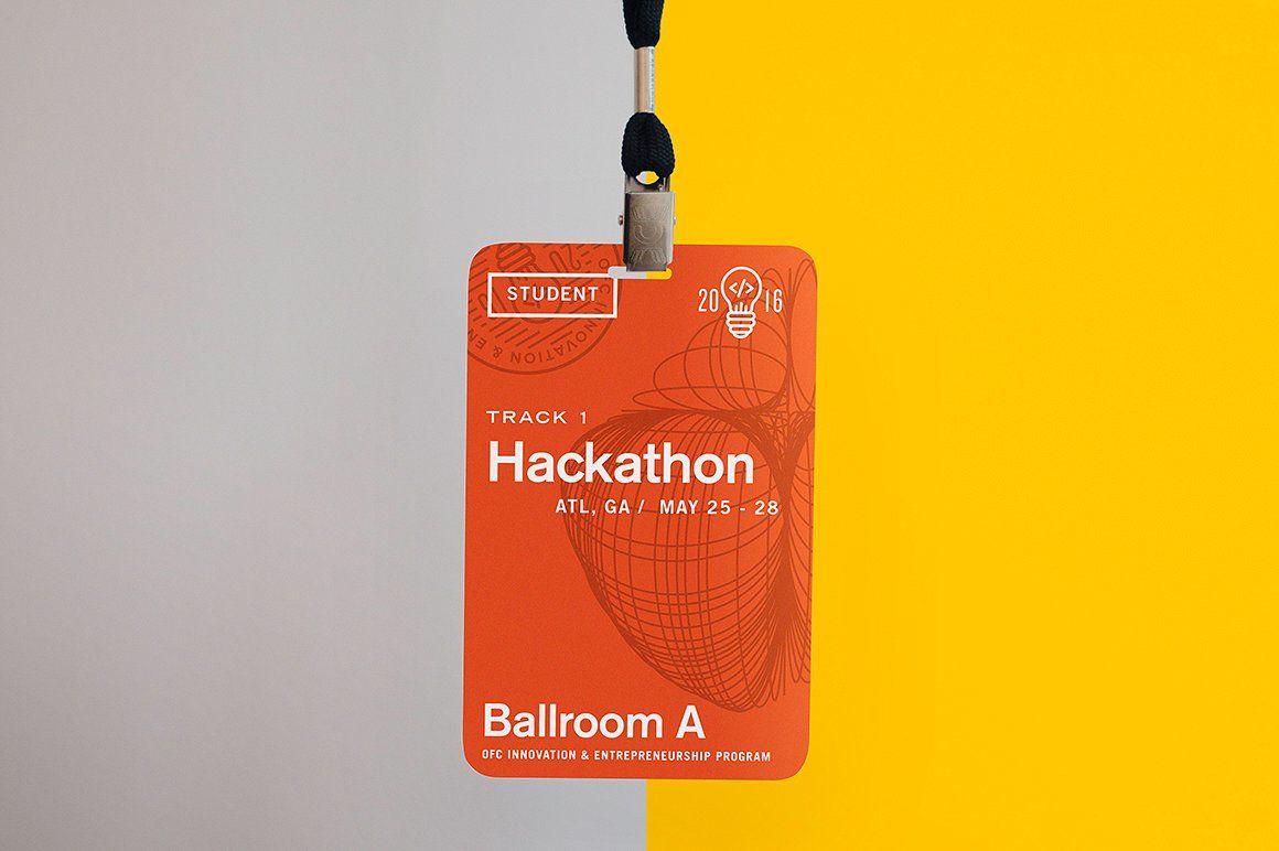 Conference Name Tag Mockup Name Tag Design Name Tags Clever Logo Design