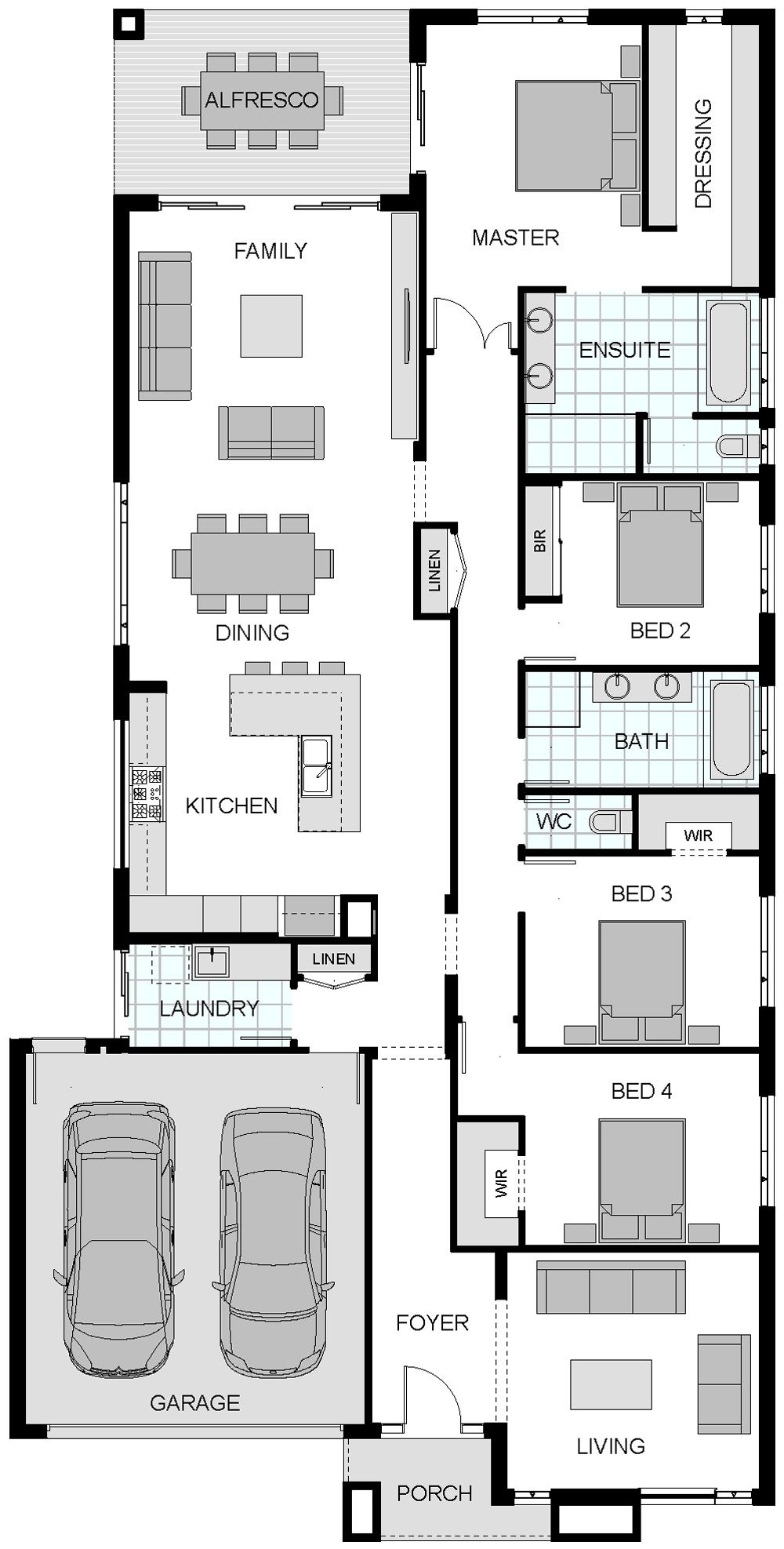 Floorplan Sherwood  Home And Cottage    Master