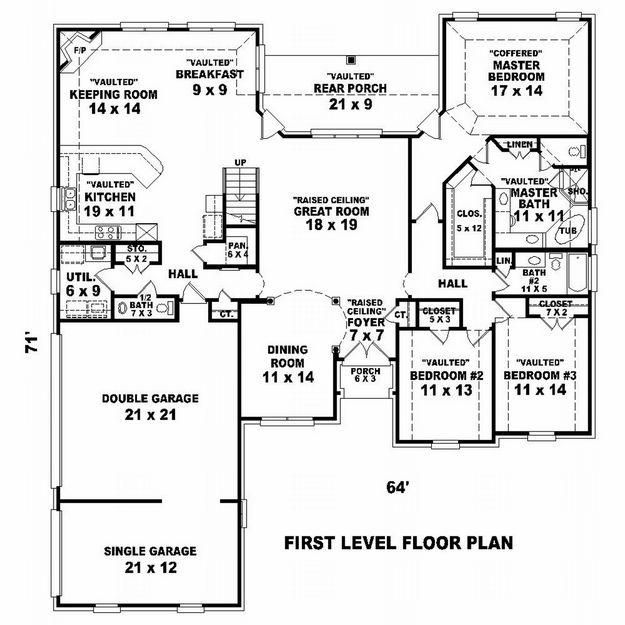 Modular Classroom Defined ~ House plan french country square