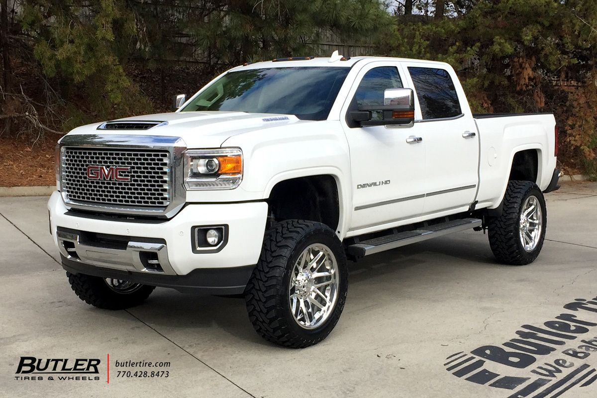 Gmc Denali With 22in Grid Offroad Gf2 Wheels Gmc Denali Diesel